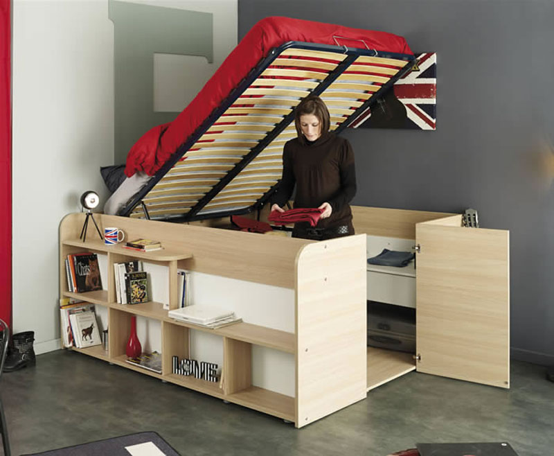 Storage Bed Closet Combination Pull