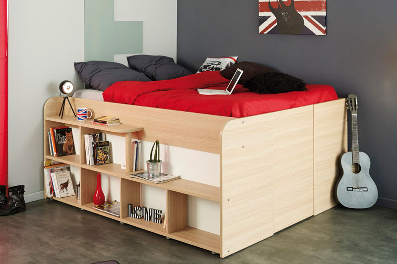 storage bed closet combination shelves