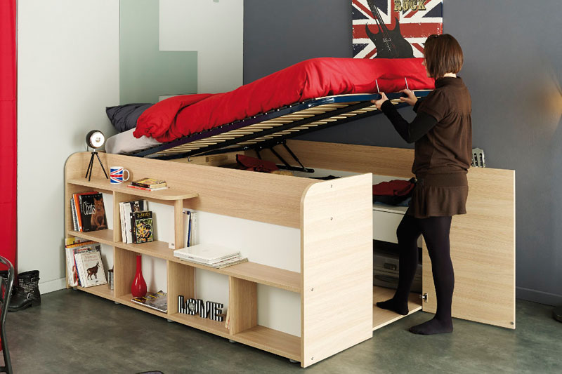 storage bed closet combination under
