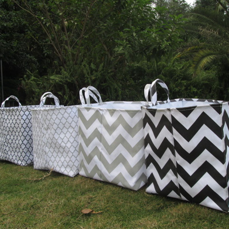 Storage bins in chevron and diff patterns