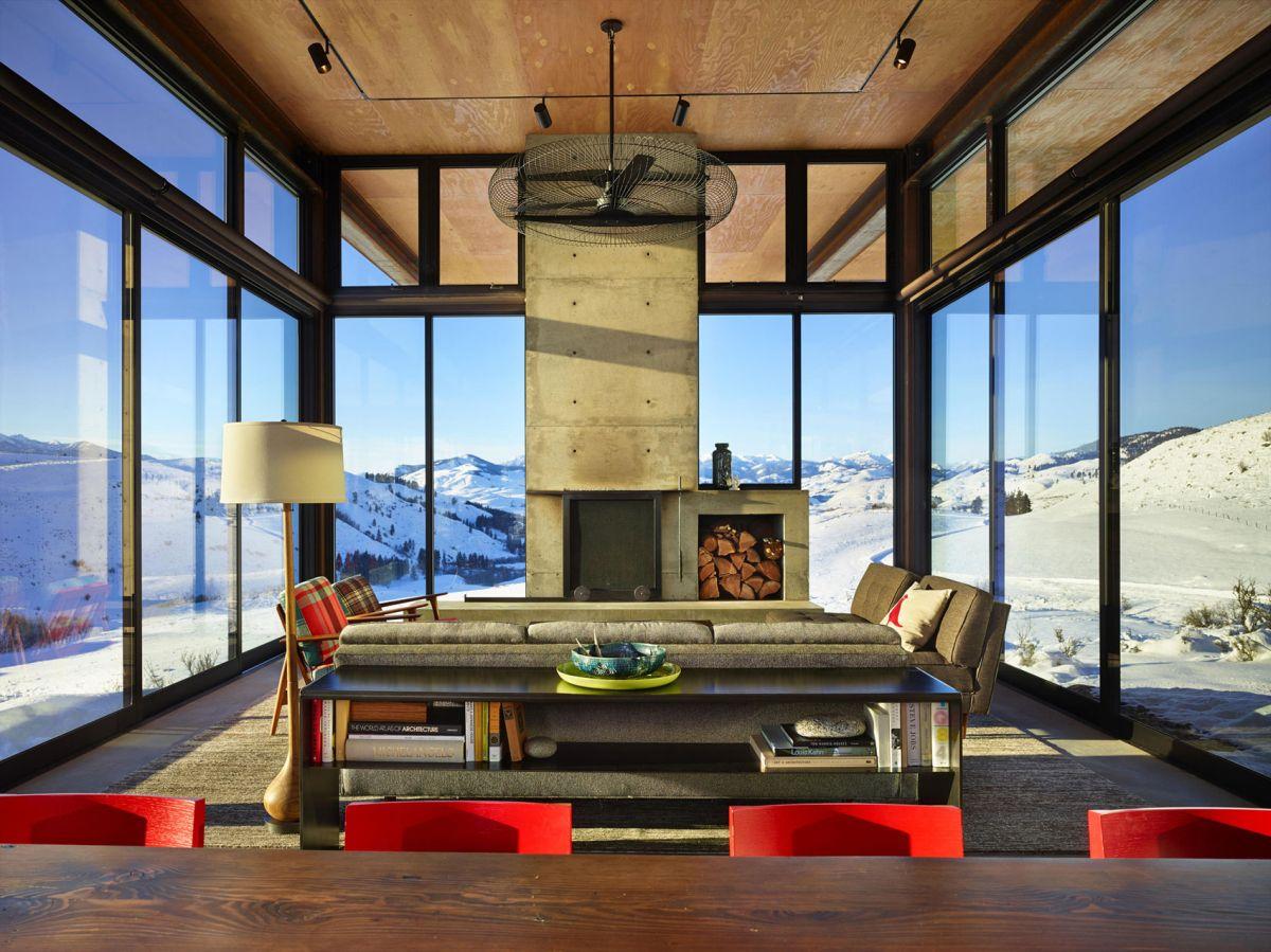 Studhorse residence social area fireplace