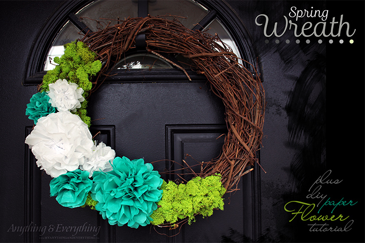 Super easy spring wreath