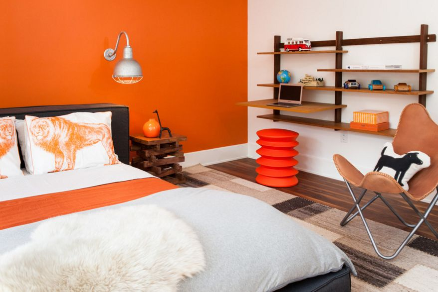 Tangerine Paint Color 40 bedroom paint ideas to refresh your space for spring!