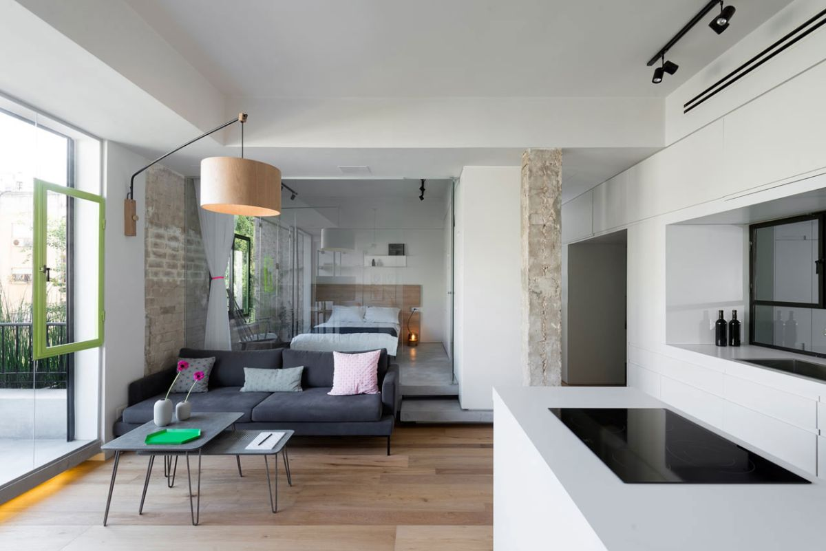 Modern apartment brings japanese beauty to tel aviv for Best studio apartment design