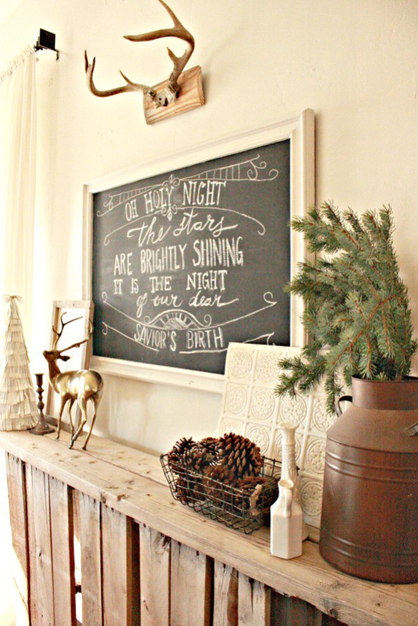 Turn a mirror into a framed chalkboard