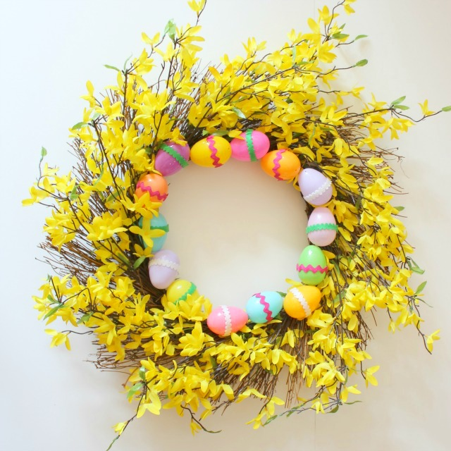 Twigs and leafs spring wreath