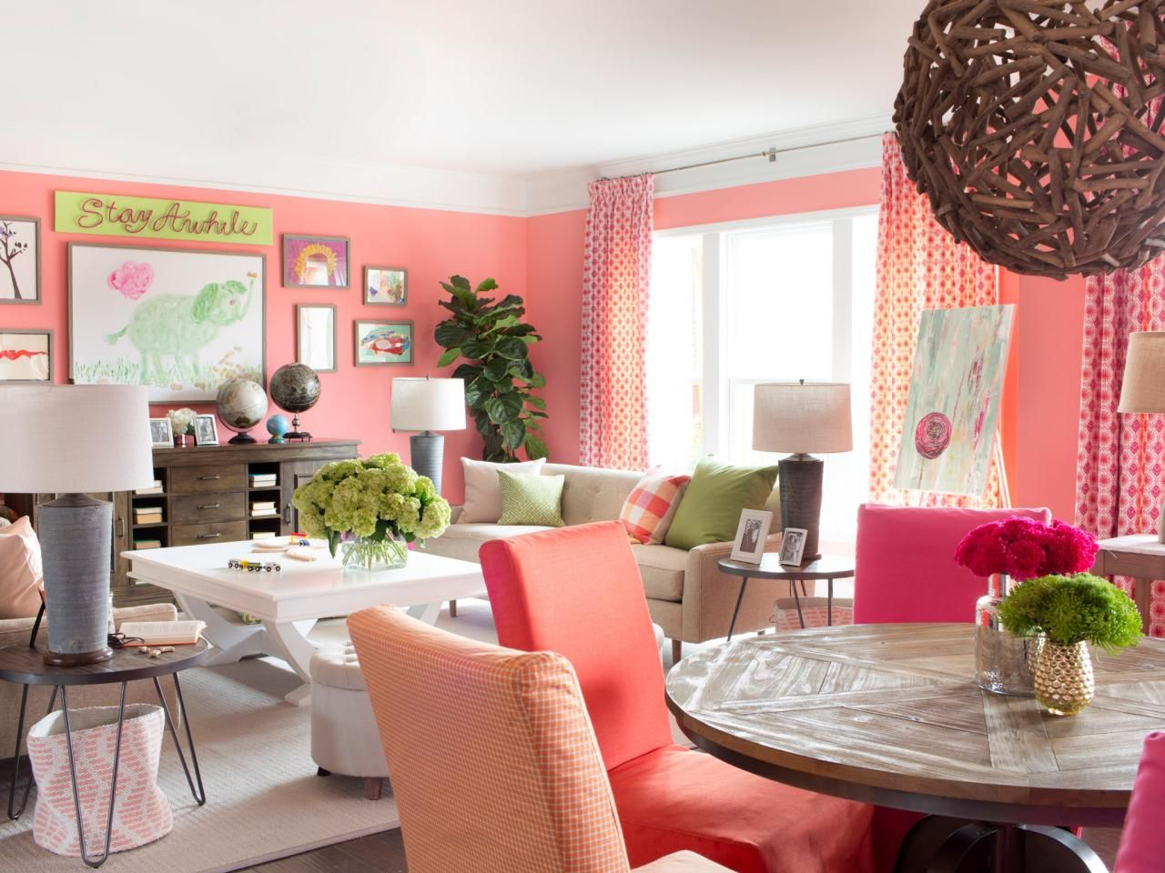 Ultra feminine design for an open space