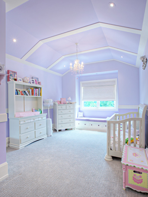 Vaulted ceiling for a nursery room