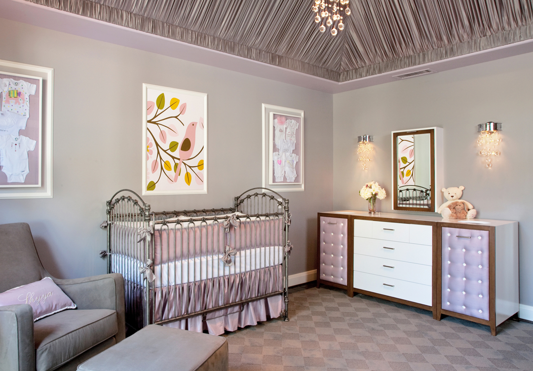 Victorian And Modern Nursery Room In Lavender