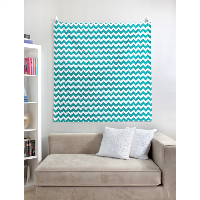 Wall art in chevron