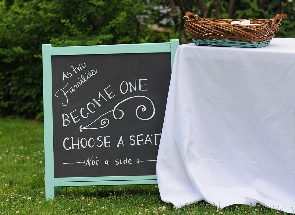 Wedding chalkboard framed sign