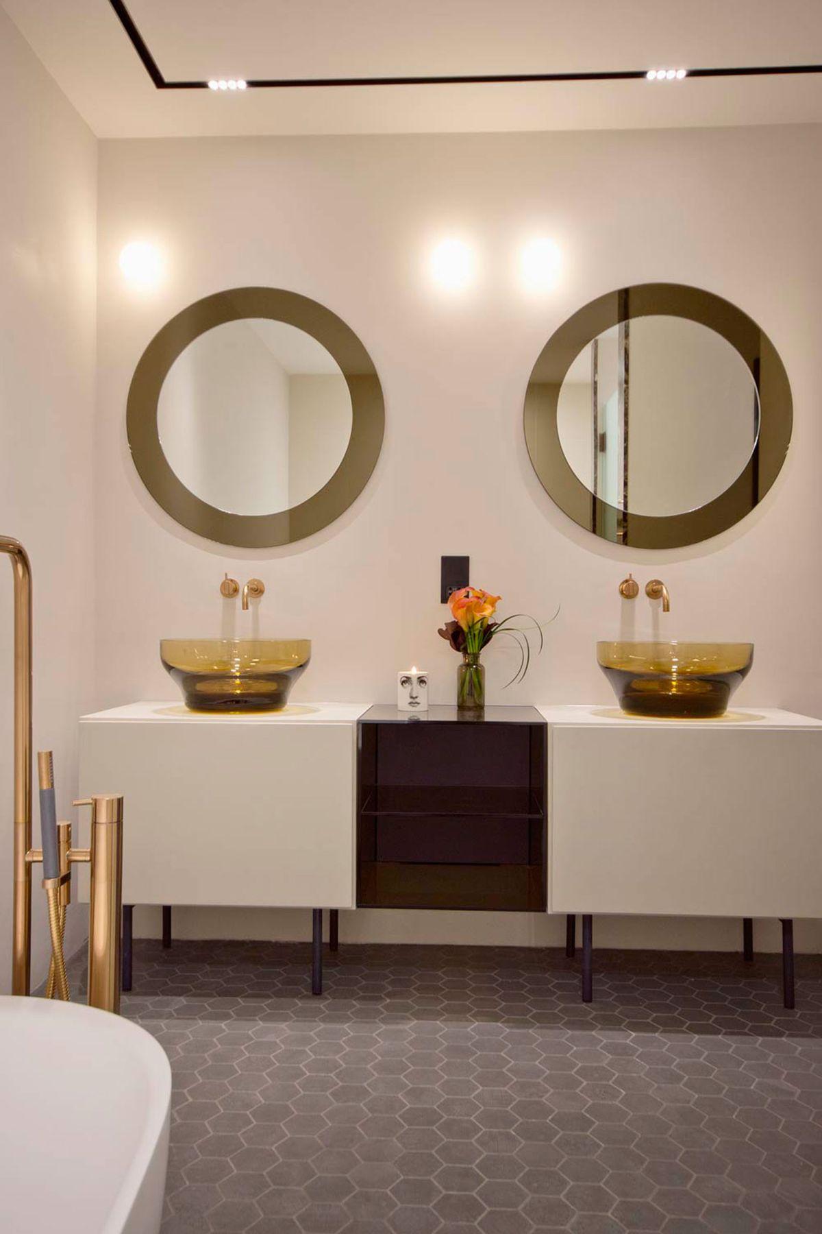 West Apartment Ransome's Dock bathroom vanity
