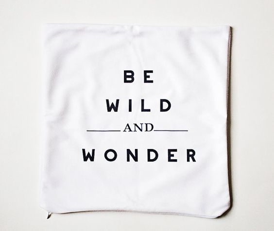 Wild wonder throw pillow
