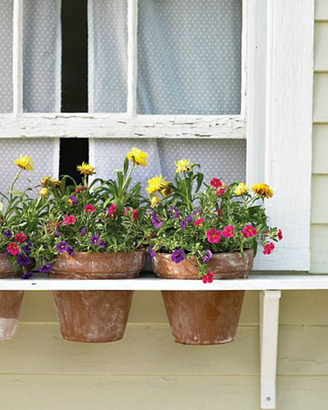 Window planters for pots