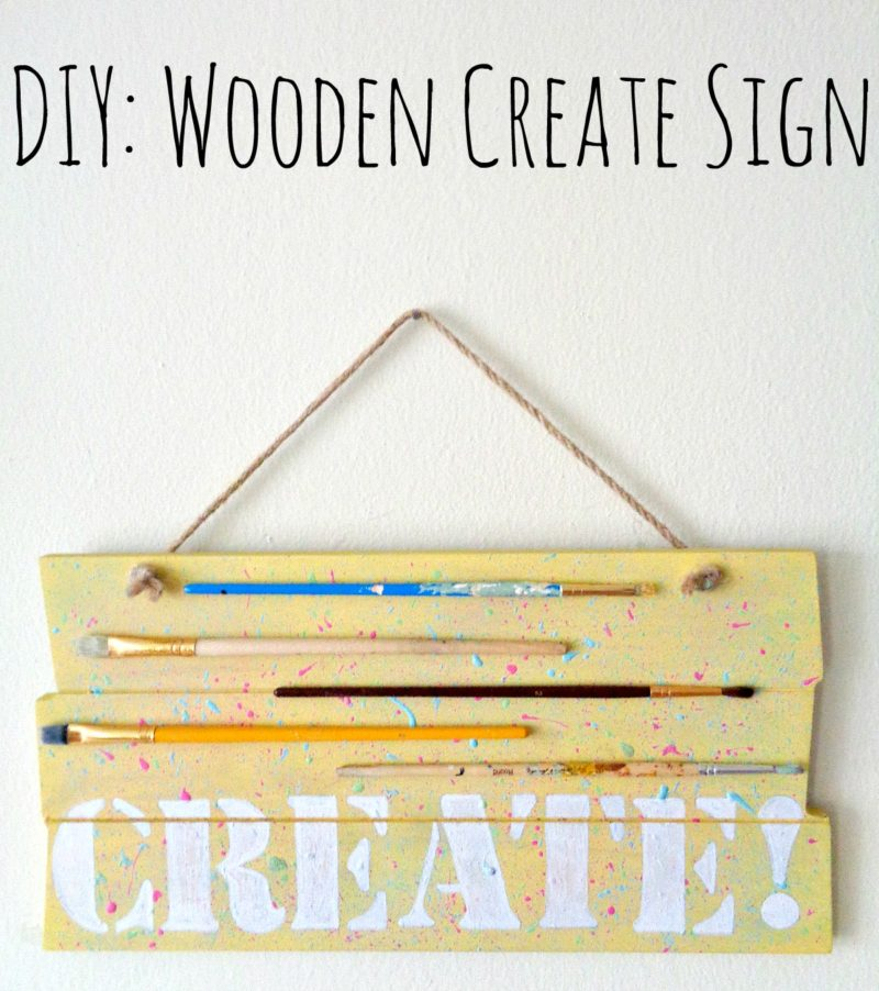 DIY: Wooden Create Sign