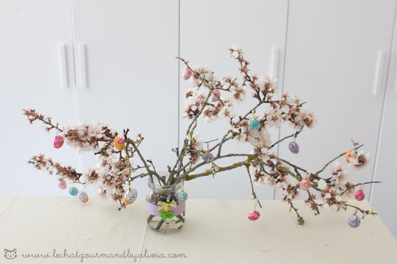 branches decorated for easter