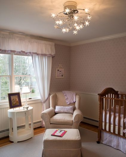 cozy nursery room with a lavender accent