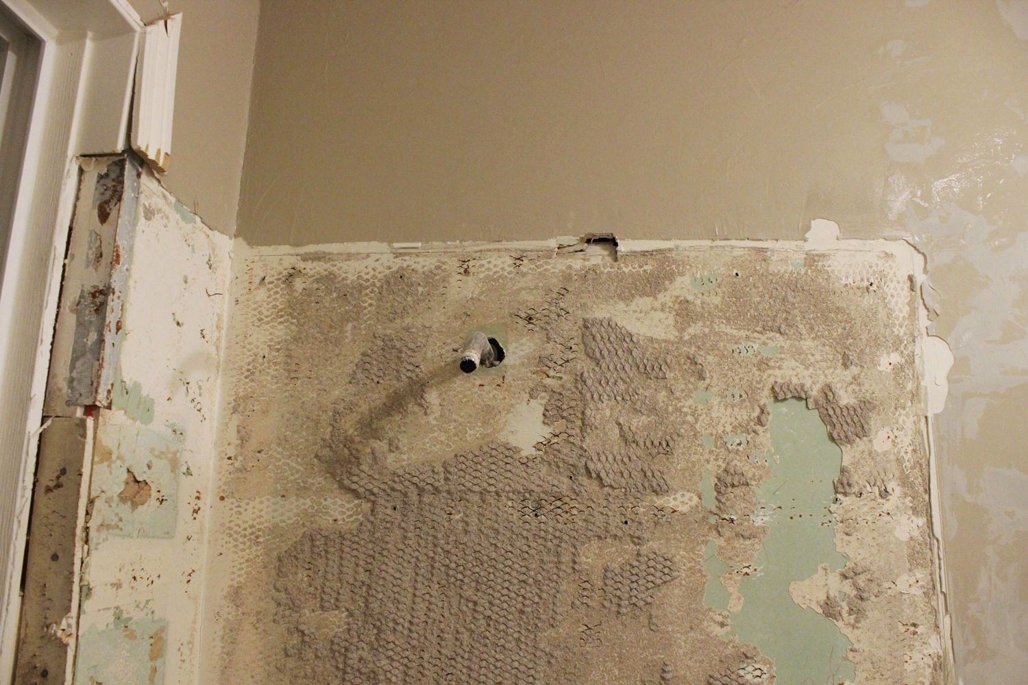 drywall has remained intact