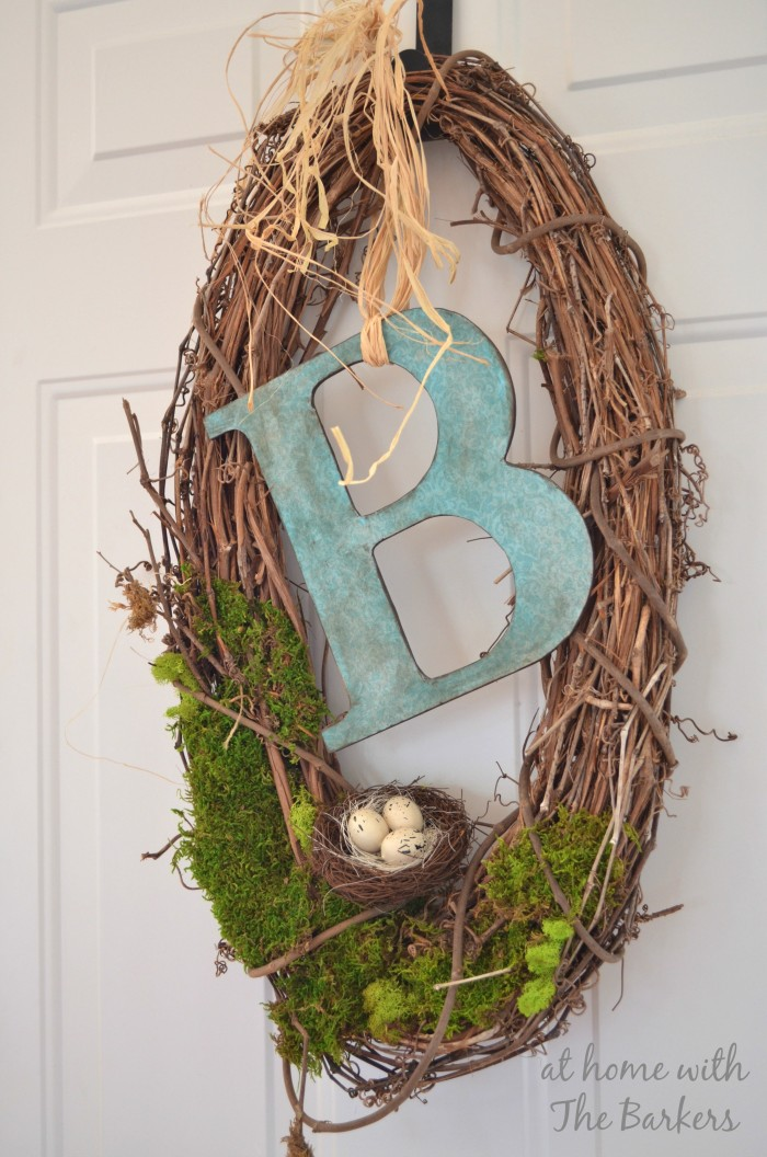 natural oval spring wreath