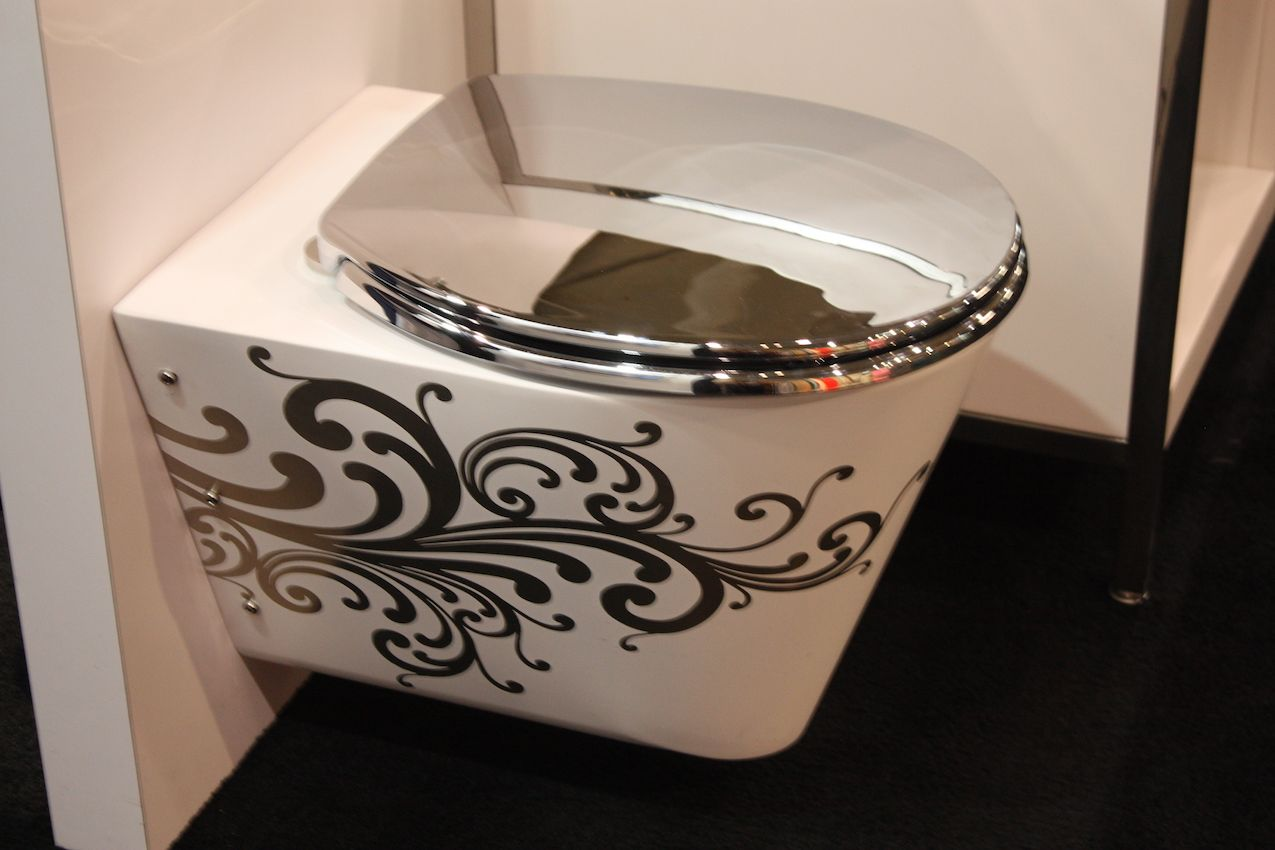 neo metro steel painted toilet design