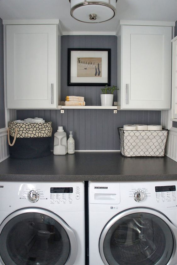 relaxed modern laundry room