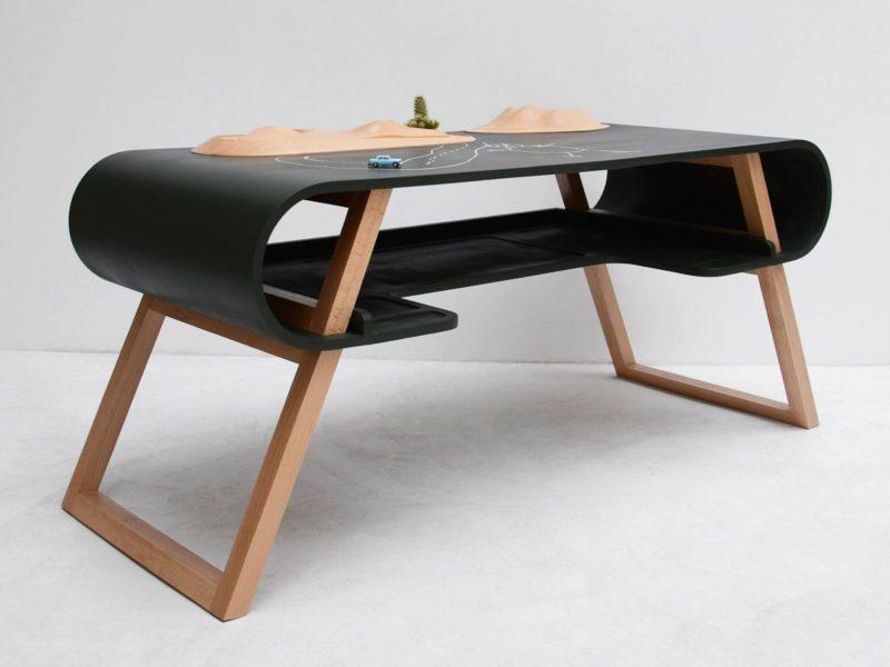 功能和愉快的办公空间的现代书桌设计