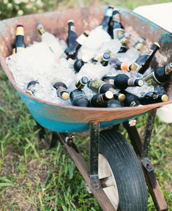 wheelbarrow summer cooler