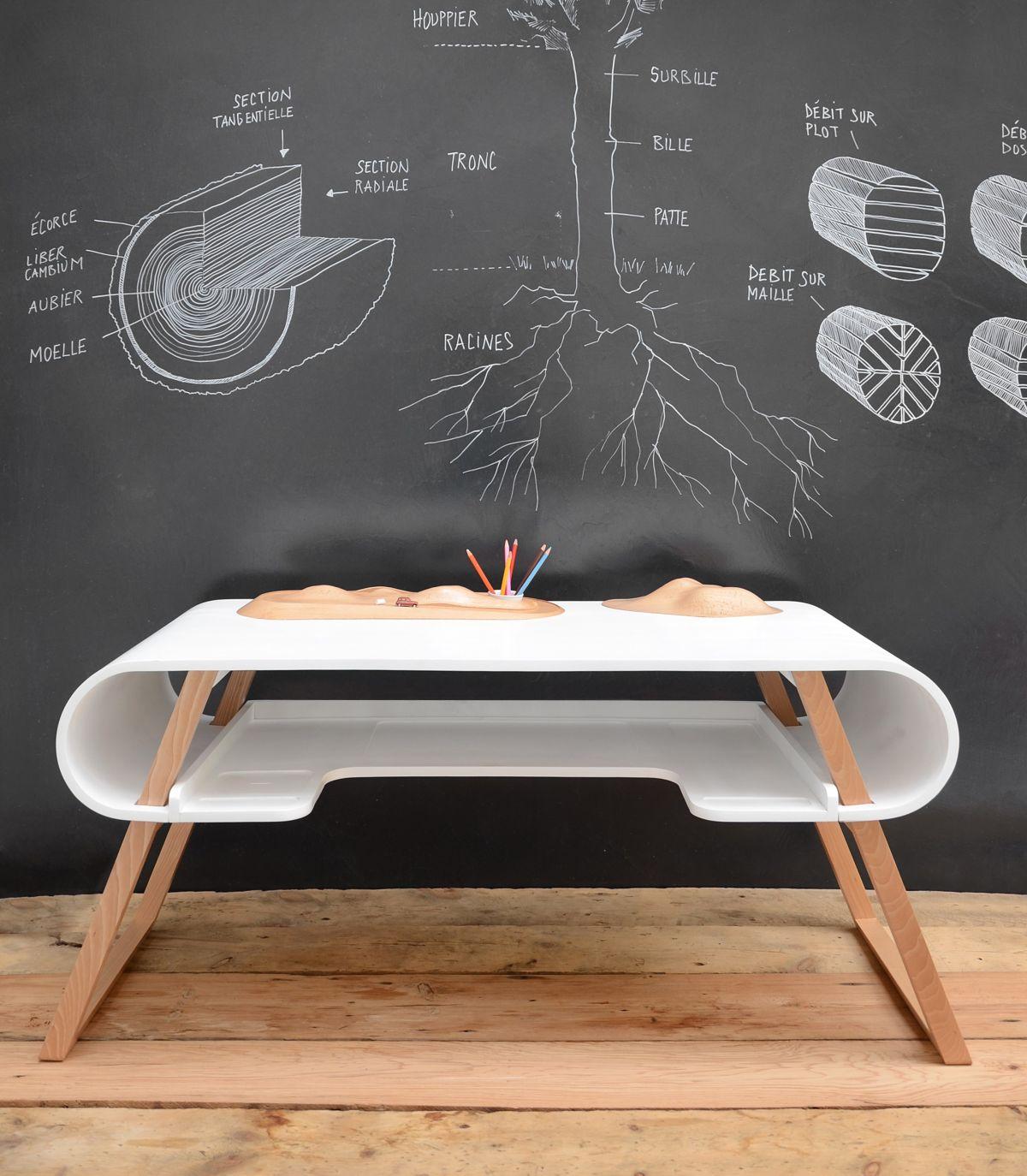white rubens mdf desk