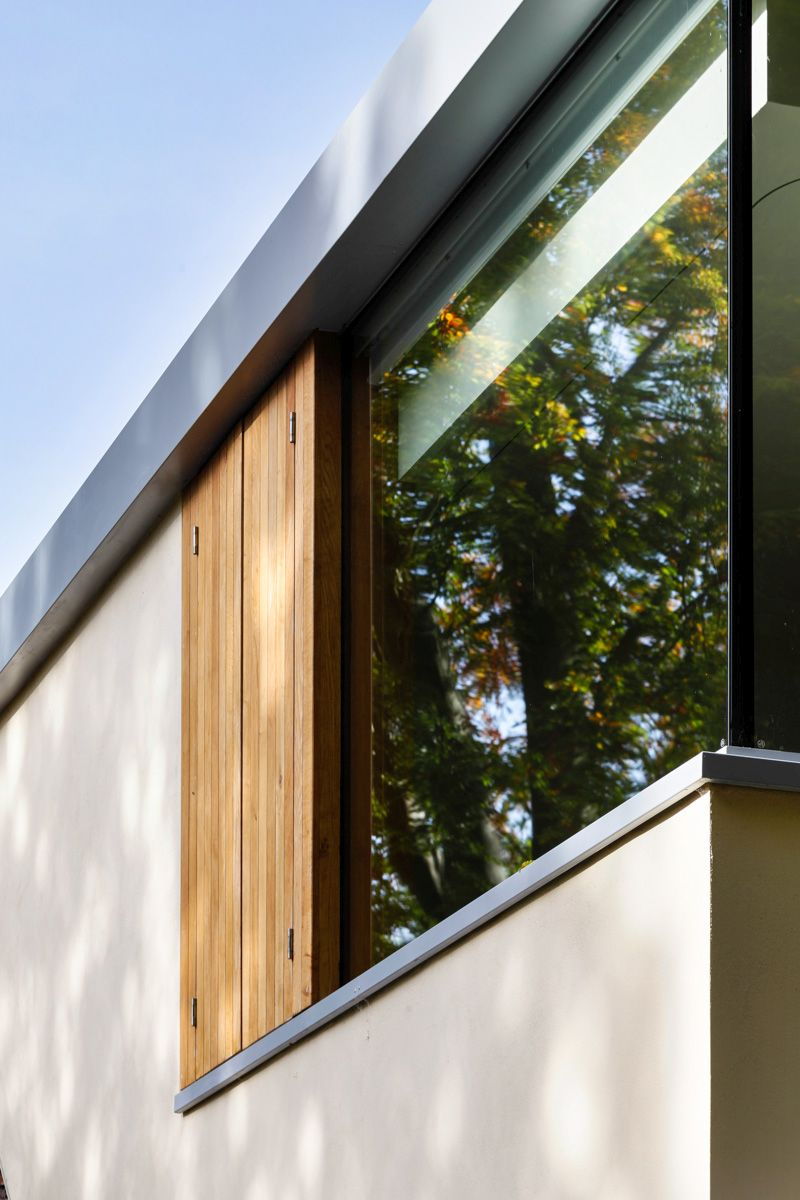 A Cantilevered Glazed Extension by Stephen Marshall Architects windows shutters