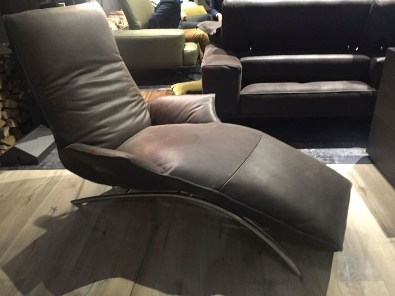 Armchair daybed in leather for living room