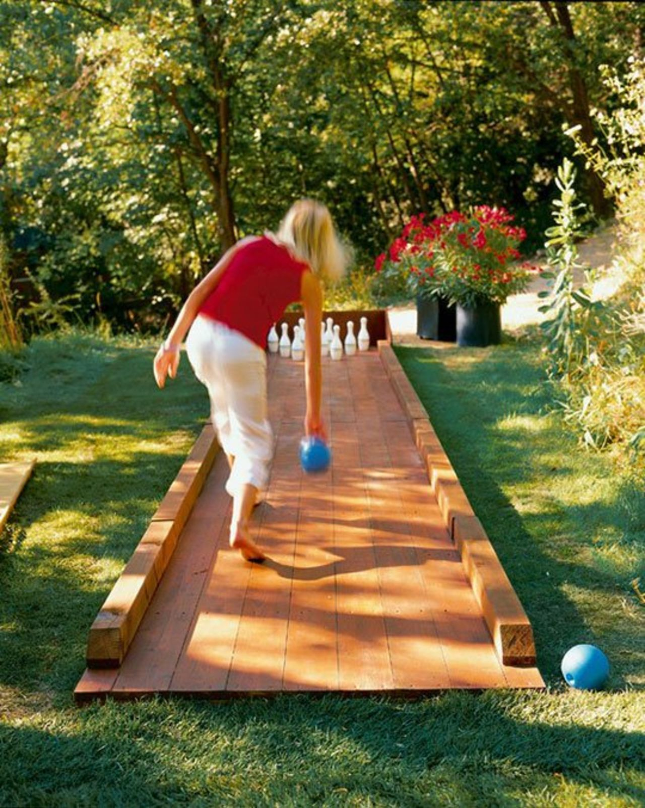 Backyard bowling lane