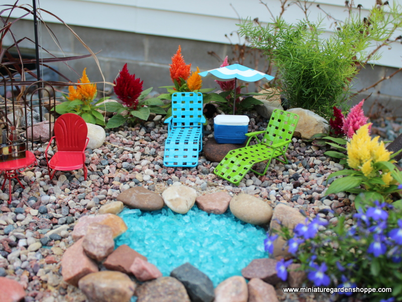 Backyard fairy garden