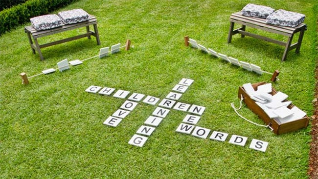 Backyard scrabble game