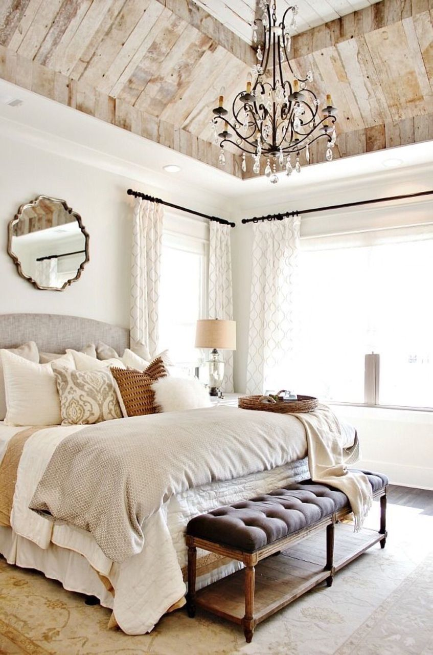bedroom chandelier with a feminine touch - Bedroom Chandelier