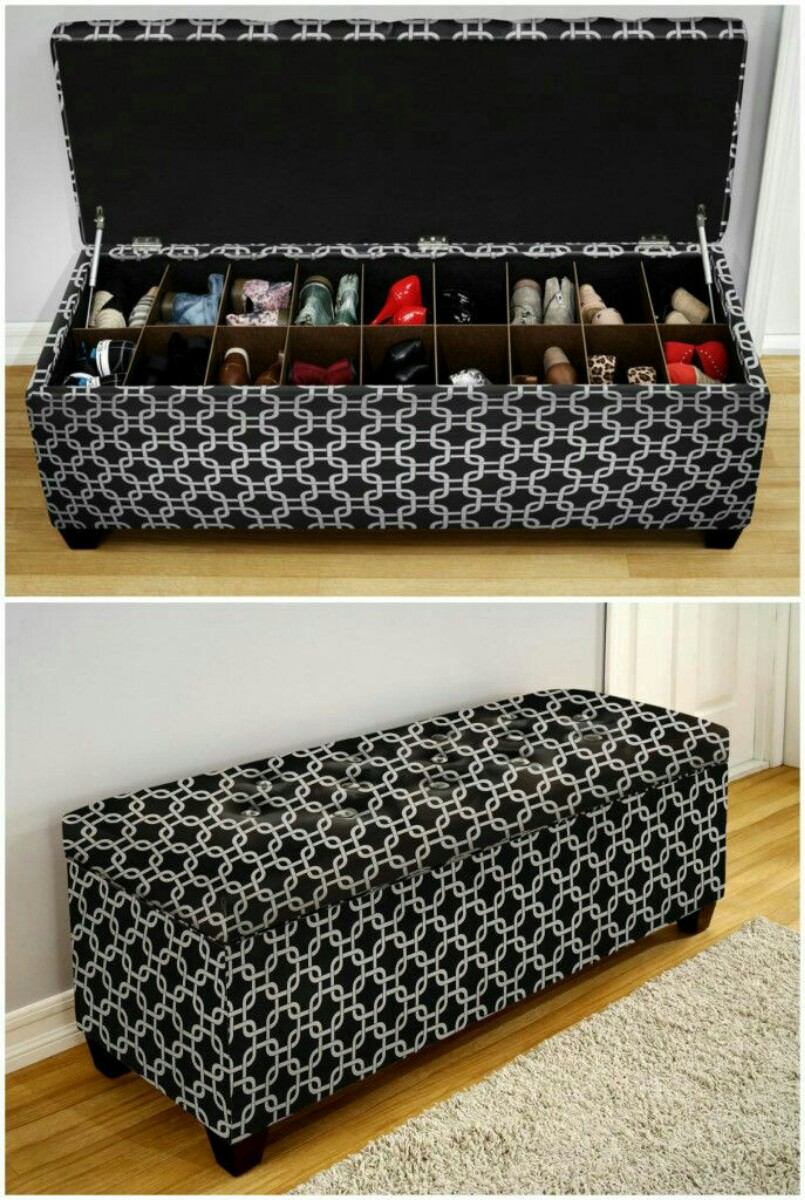 Bench shoe storage