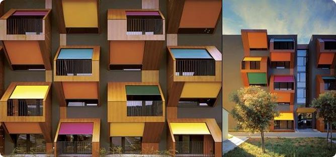 Block balconies design