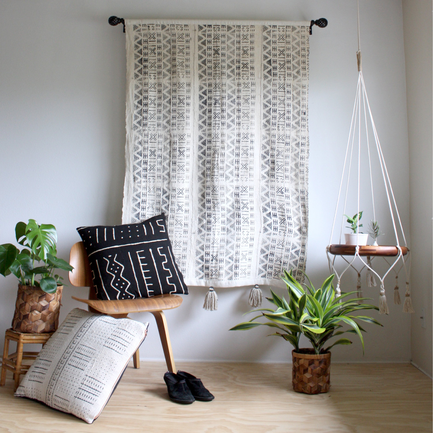 Boho Tapestries with a geometric pattern