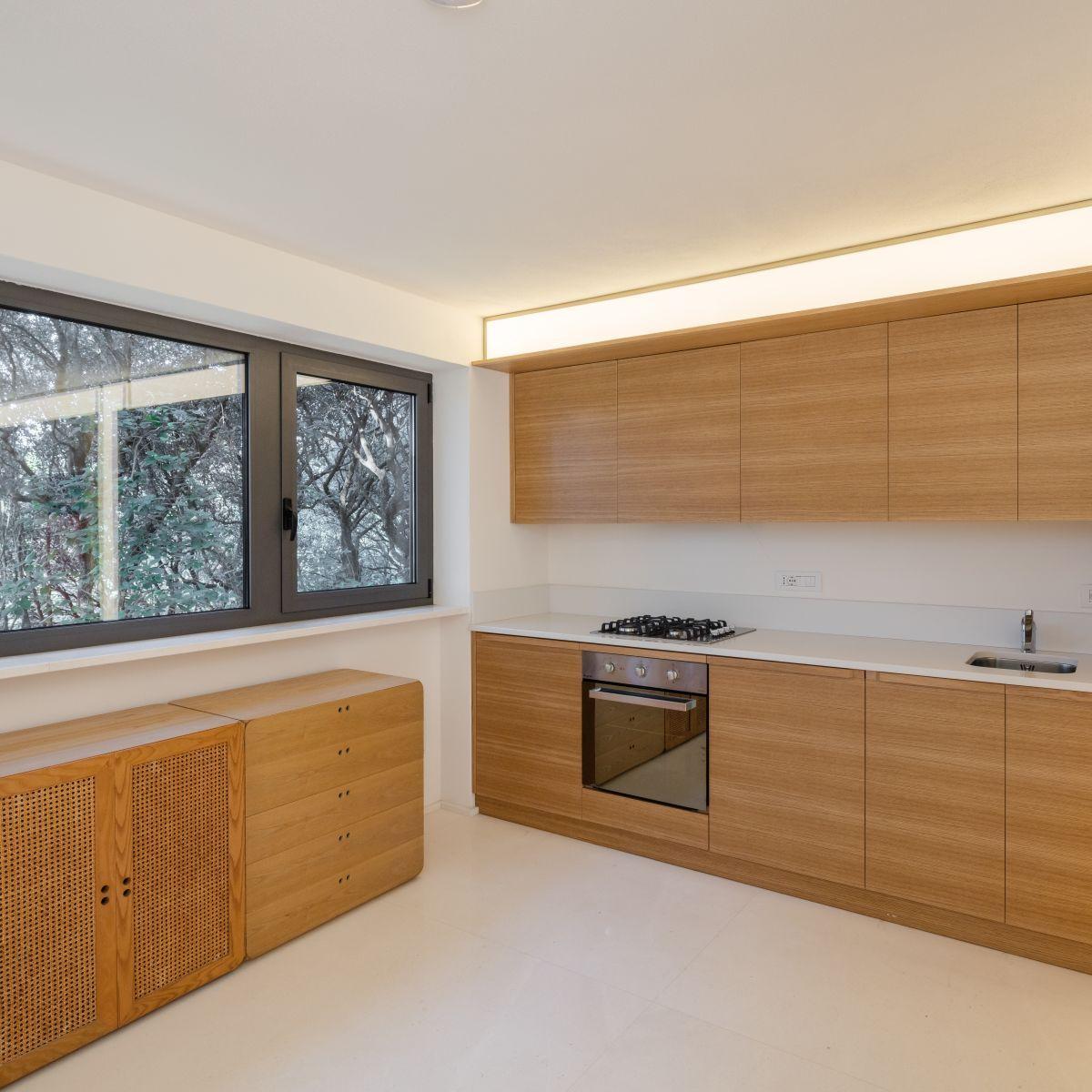 Casa nel Bosco kitchen windows