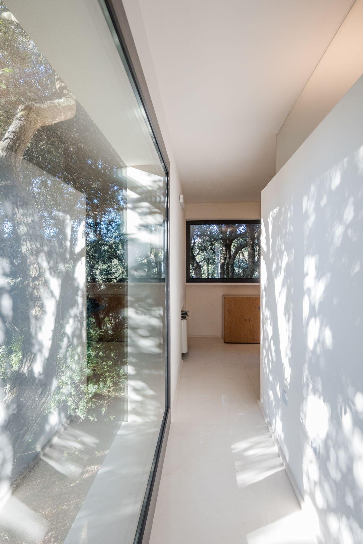 Casa nel Bosco narrow hallway