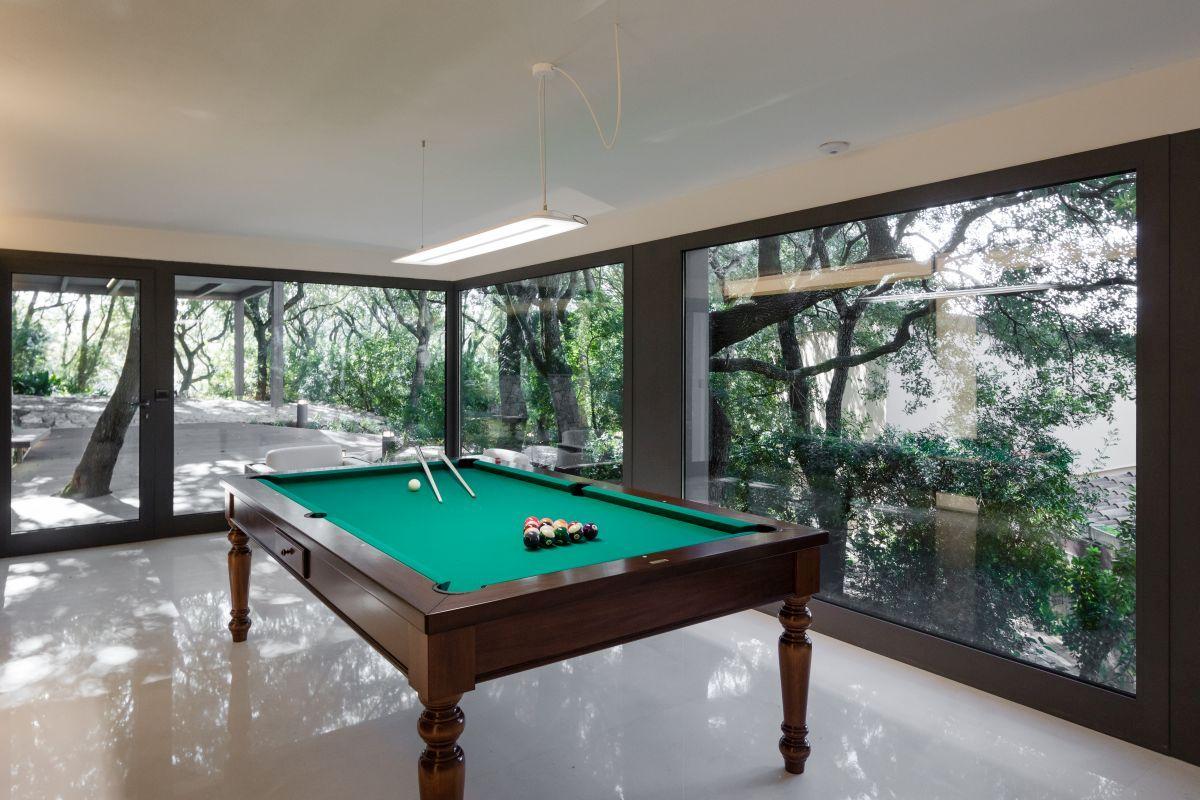 Casa nel Bosco pool table centered view