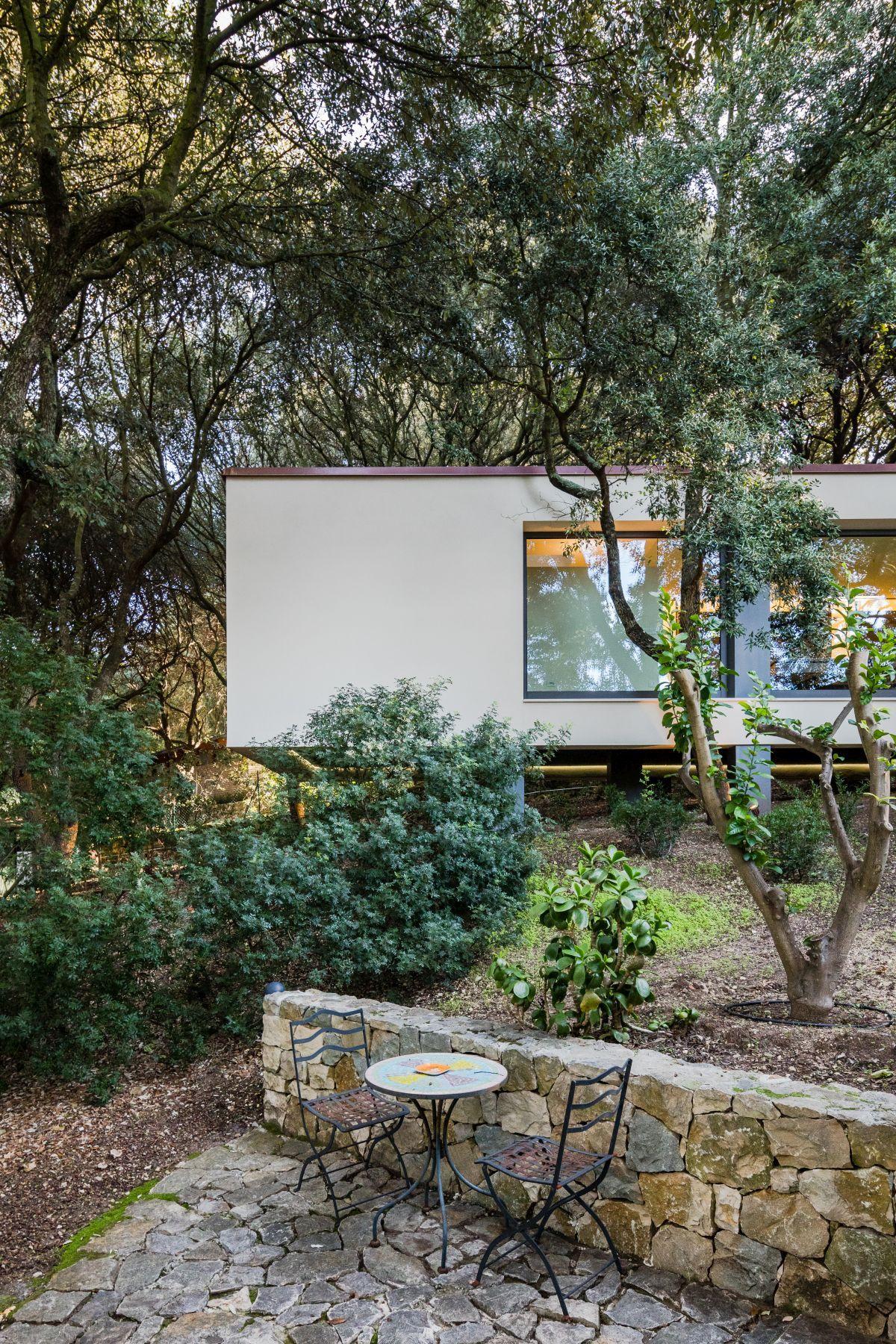 Casa Nel Bosco Stone Outdoor Seating Area