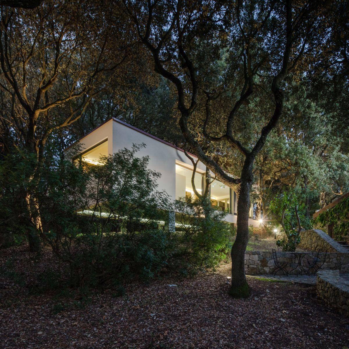 Casa nel Bosco surroundings at dawn