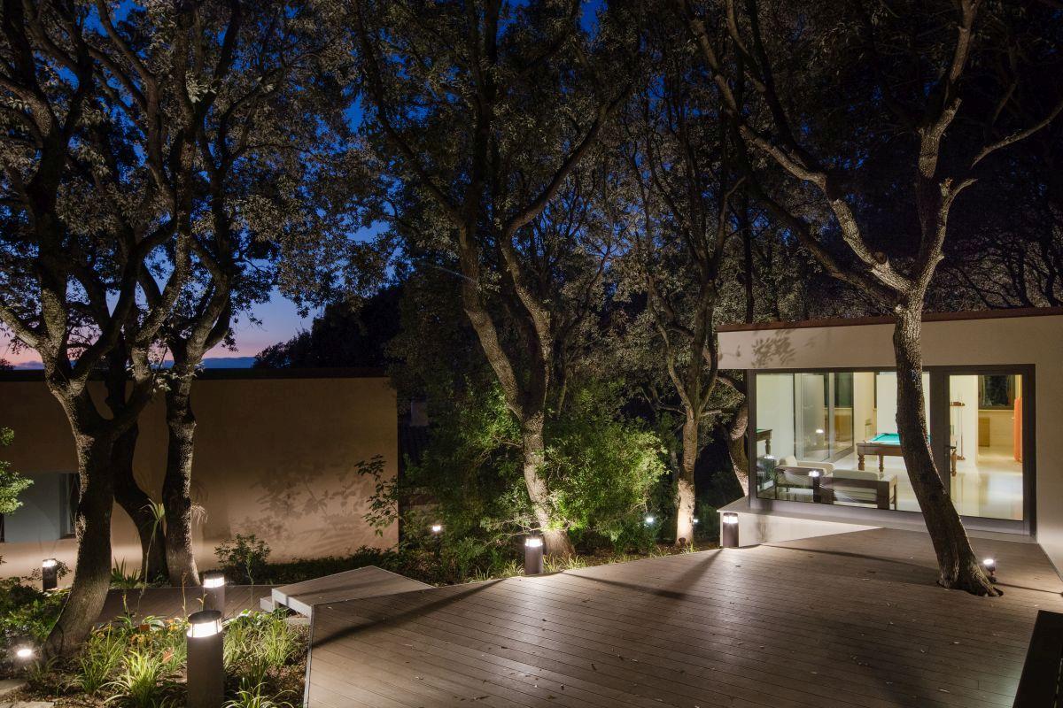 Casa Nel Bosco Wood Terrace At Night