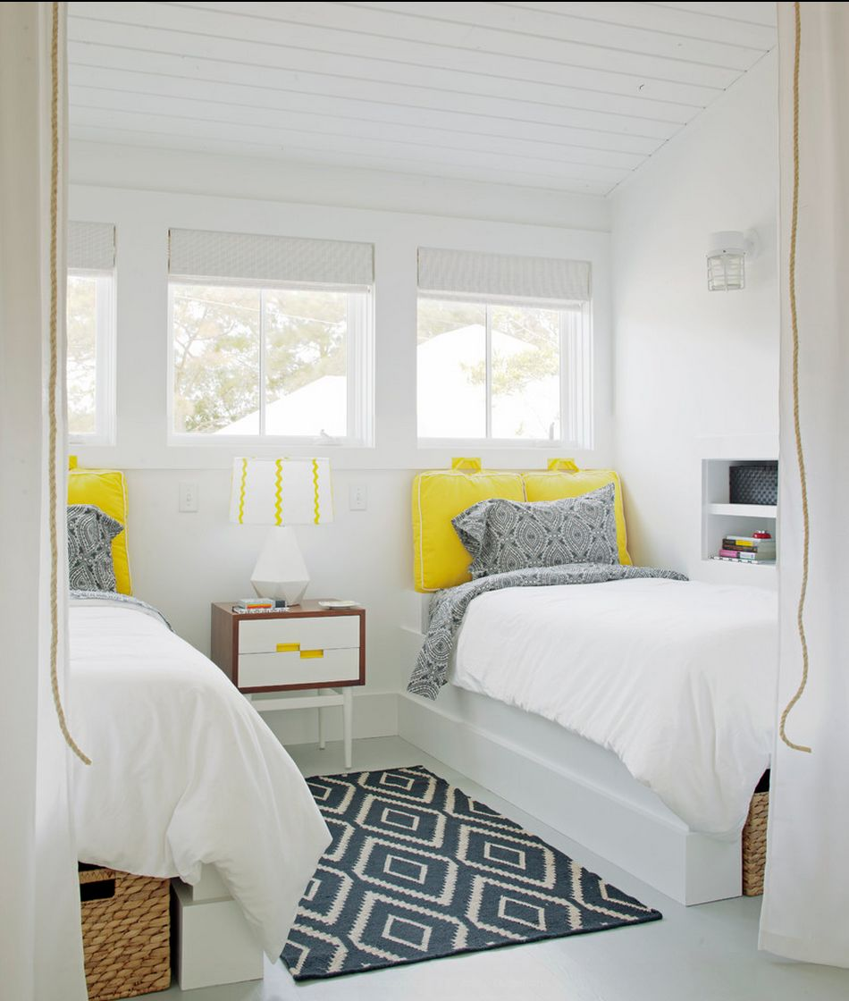 Citrus yellow bedroom