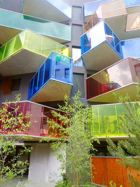 Colorful and futuristic balconies design ideas