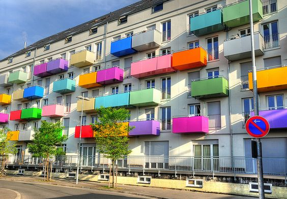 Colorful balcony painted