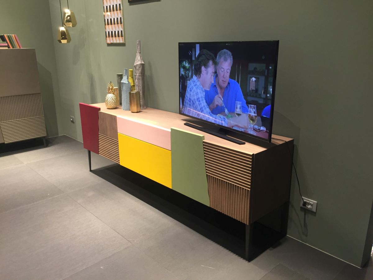Colorful block media console