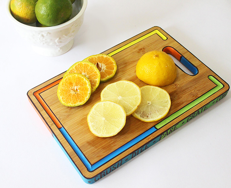 Colorful cutting board design