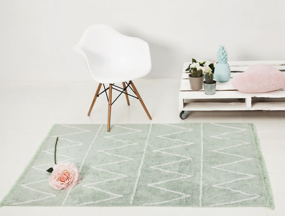 Colorful mint area rugs