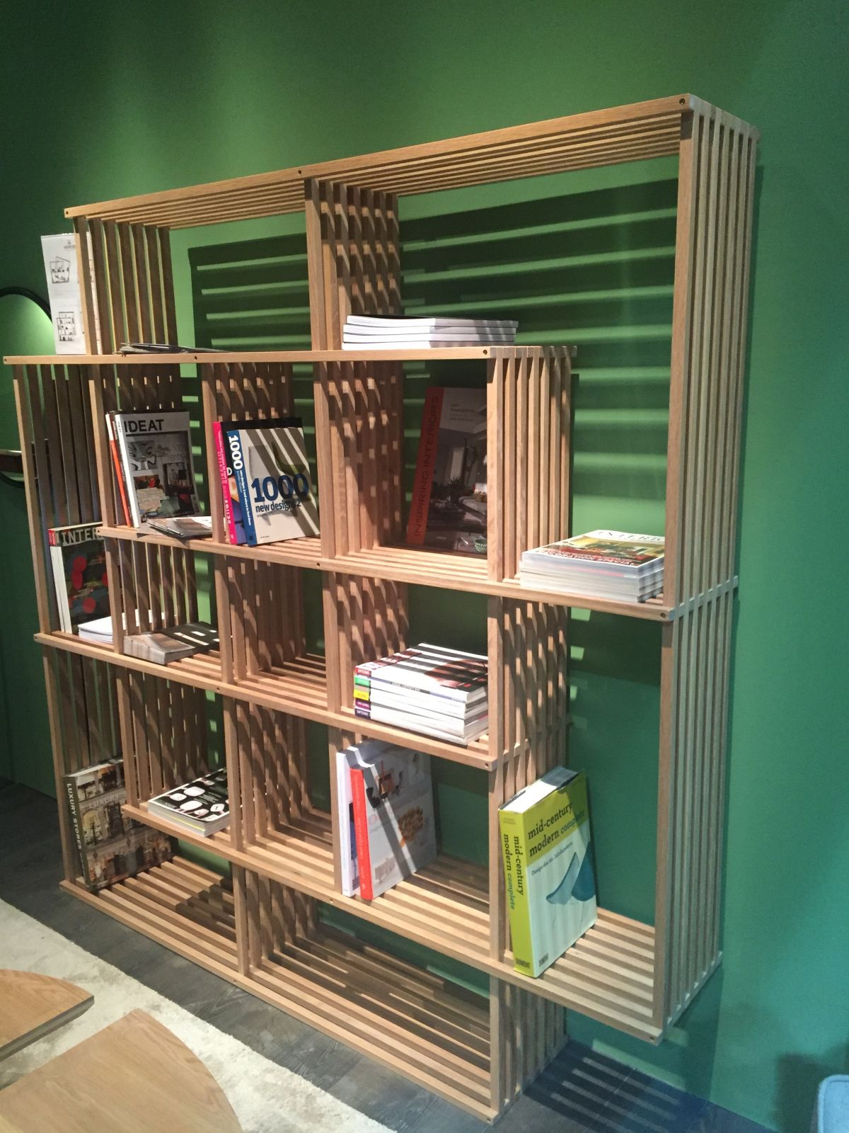 Compact Wood Shelving Unit